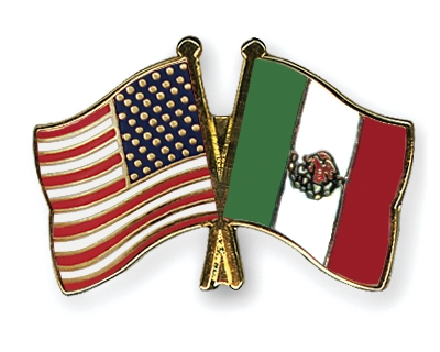 Crossed Flag Pins USAMexico Flags - Usa and mexico