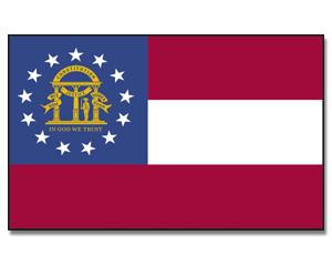flag georgia us animated flag gif