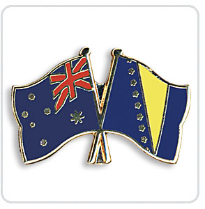 Crossed Flag Pins Australia-Bosnia and Herzegovina