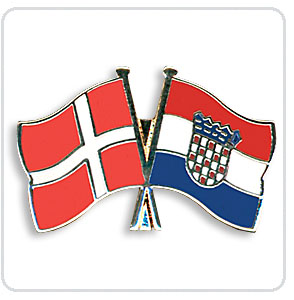 Crossed Flag Pins Denmark-Croatia