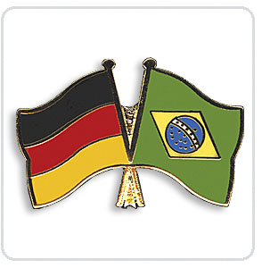 Crossed Flag Pins Germany-Brazil
