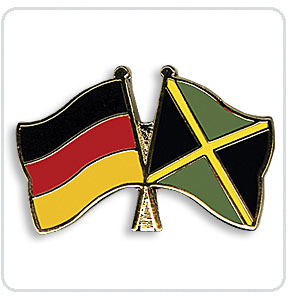 Crossed Flag Pins Germany-Jamaica