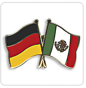 Crossed Flag Pins Germany-Mexico