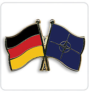 Crossed Flag Pins Germany-Nato