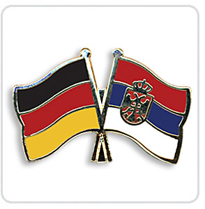 Crossed Flag Pins Germany-Serbia