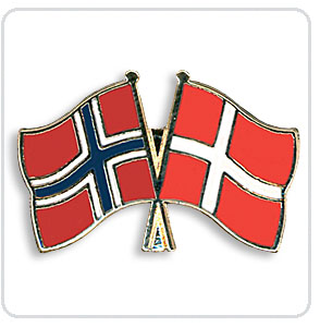Crossed Flag Pins Norway-Denmark