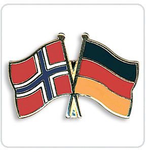 Crossed Flag Pins Norway-Germany