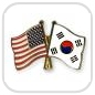 crossed-flag-pins-special-offer-USA-South-Korea