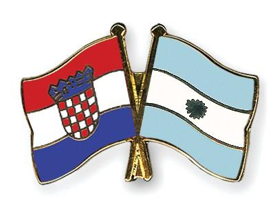 Crossed Flag Pins Croatia-Argentina