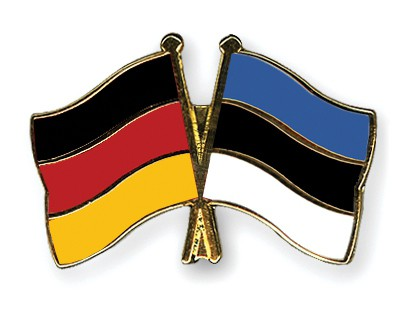 Crossed Flag Pins Germany-Estonia