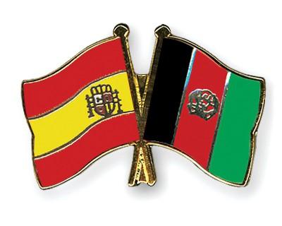 Crossed Flag Pins Spain-Afghanistan