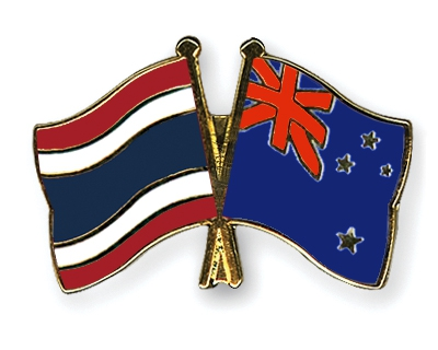 Preview Crossed Flag Pins Thailand New Zealand