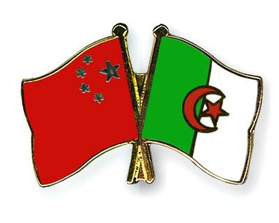 Crossed Flag Pins China-Algeria