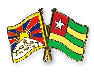 Crossed Flag Pins Tibet-Togo
