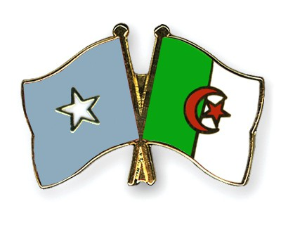 Crossed Flag Pins Somalia-Algeria