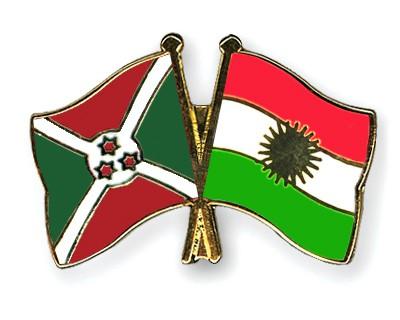Crossed Flag Pins Burundi-Kurdistan