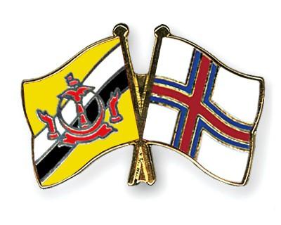 Crossed Flag Pins Brunei-Darussalam-Faeroe-Islands