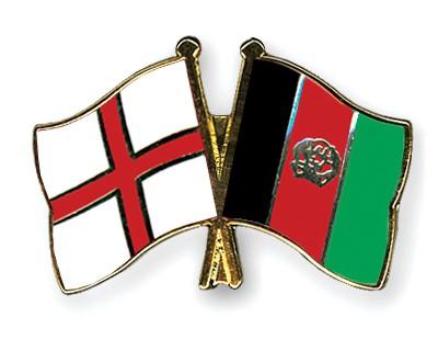 Crossed Flag Pins England-Afghanistan
