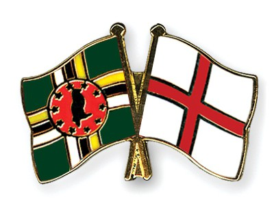 Crossed Flag Pins Dominica-England