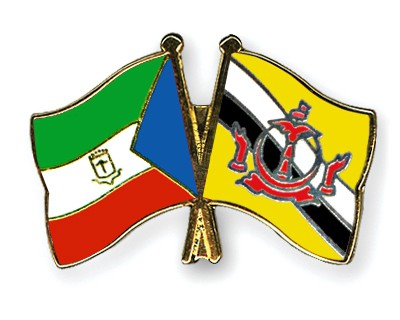 Crossed Flag Pins Equatorial-Guinea-Brunei-Darussalam