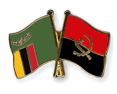 Crossed Flag Pins Zambia-Angola
