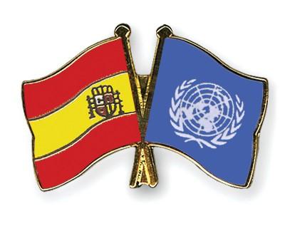 Crossed Flag Pins Spain-UNO