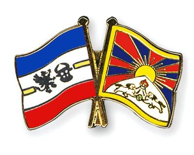 Crossed Flag Pins Mecklenburg-Western-Pomerania-Tibet