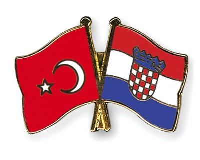 Crossed Flag Pins Turkey-Croatia