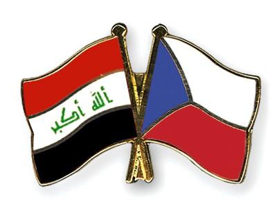 Crossed Flag Pins Iraq-Czech-Republic