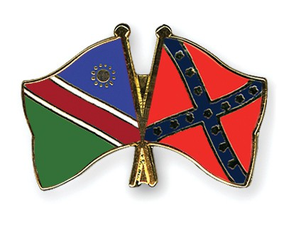 Crossed Flag Pins Namibia-Confederate-battle