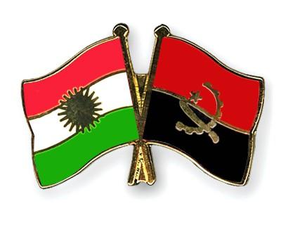 Crossed Flag Pins Kurdistan-Angola
