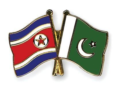 Crossed Flag Pins North-Korea-Pakistan