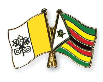 Crossed Flag Pins Vatican-City-Zimbabwe