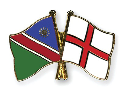 Crossed Flag Pins Namibia-England