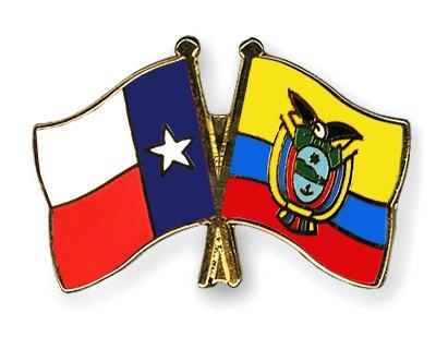 Crossed Flag Pins Texas-Ecuador