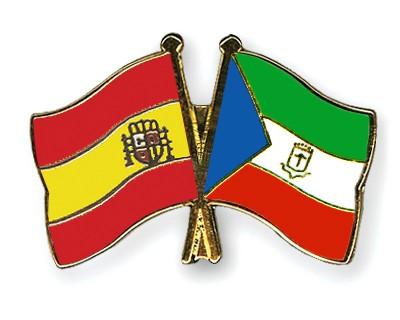 Crossed Flag Pins Spain-Equatorial-Guinea