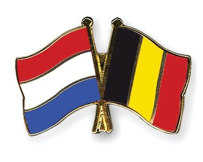 Crossed Flag Pins Netherlands-Belgium