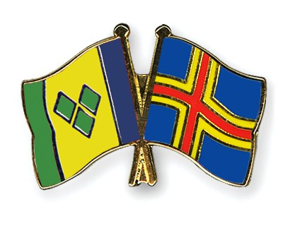 Crossed Flag Pins Saint-Vincent-and-the-Grenadines-Aland