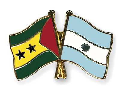 Crossed Flag Pins Sao-Tome-and-Principe-Argentina