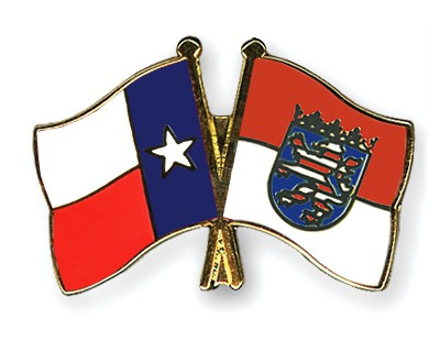 Crossed Flag Pins Texas-Hesse