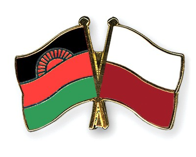 Crossed Flag Pins Malawi-Poland