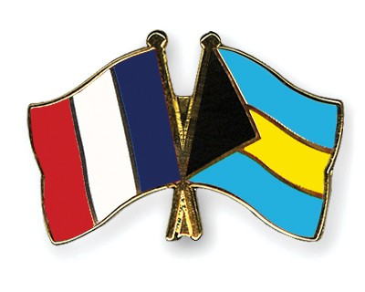 Special Offer Crossed Flag Pins France-Bahamas