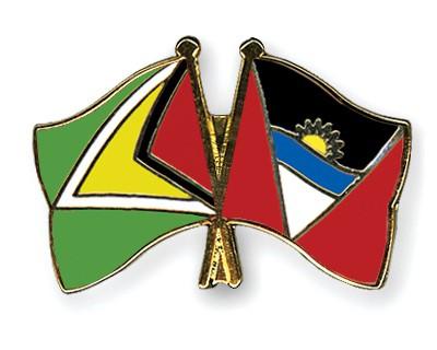 Crossed Flag Pins Guyana-Antigua-and-Barbuda