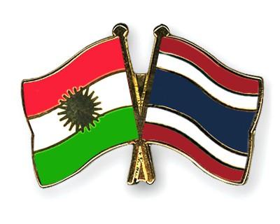 Crossed Flag Pins Kurdistan-Thailand