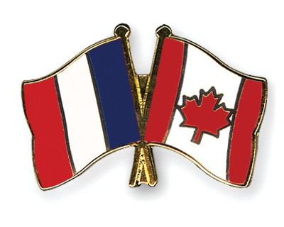 Special Offer Crossed Flag Pins France-Canada
