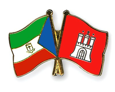 Crossed Flag Pins Equatorial-Guinea-Hamburg