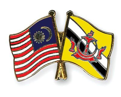 Crossed Flag Pins Malaysia-Brunei-Darussalam