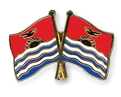 Crossed Flag Pins Kiribati-Kiribati