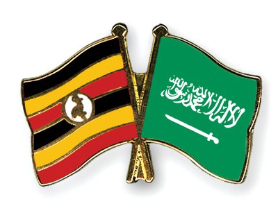 Special Offer Crossed Flag Pins Uganda-Saudi-Arabia
