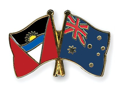 Crossed Flag Pins Antigua-and-Barbuda-Australia